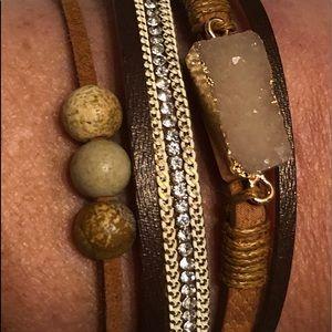 Beautiful NWT leather bracelet